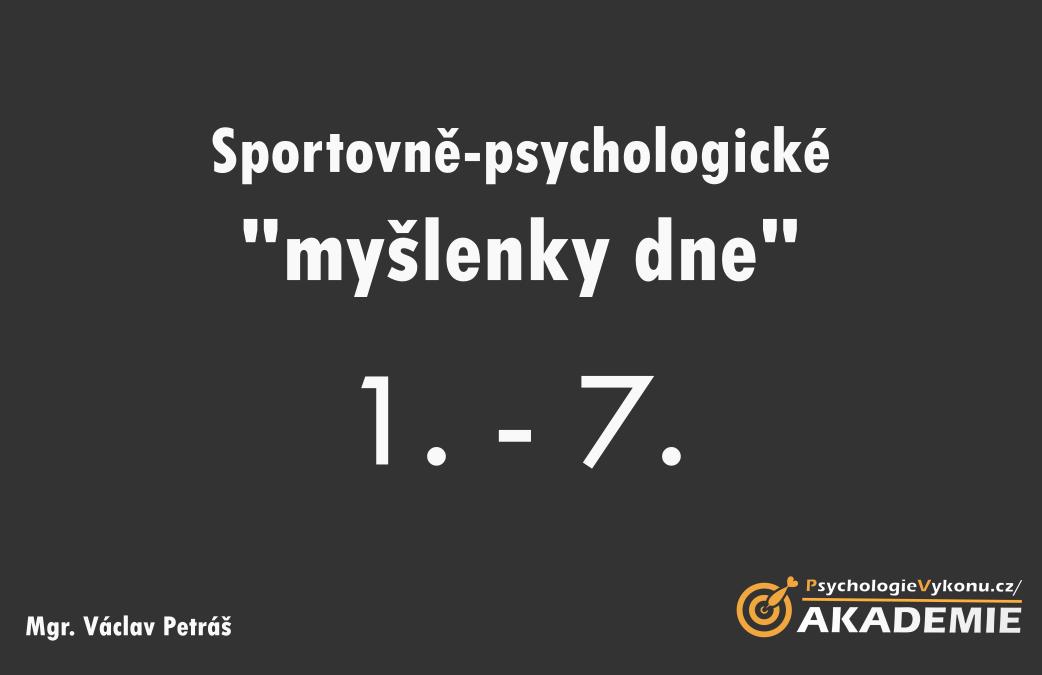 Sportovně-psychologické myšlenky