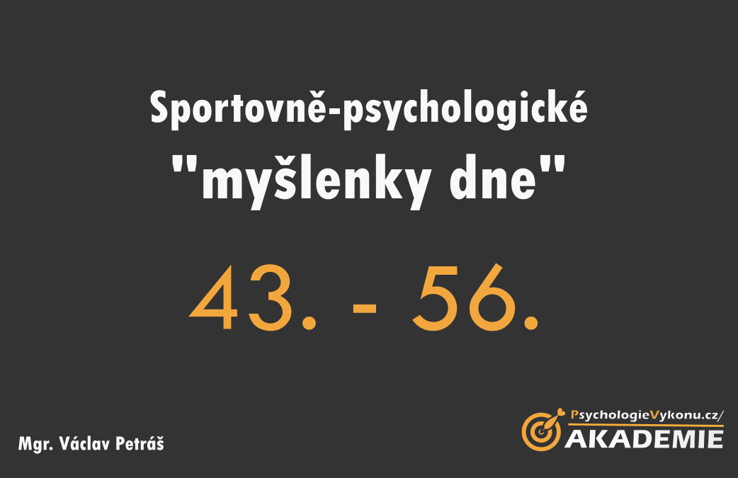 Sportovně-psychologické myšlenky V