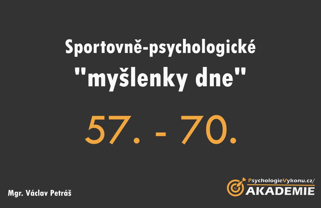 Sportovně-psychologické myšlenky VI