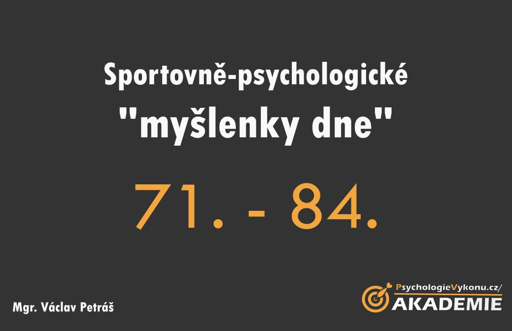 Sportovně-psychologické myšlenky VII